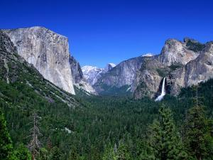 Distant Bridaleveil Falls in the Yosemite National Park, Yosemite National Park, California by Thomas Winz