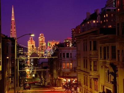 Downtown at Dusk, San Francisco, U.S.A.