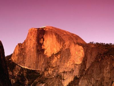 Half Dome Rock at Sundown, Yosemite National Park, California, USA