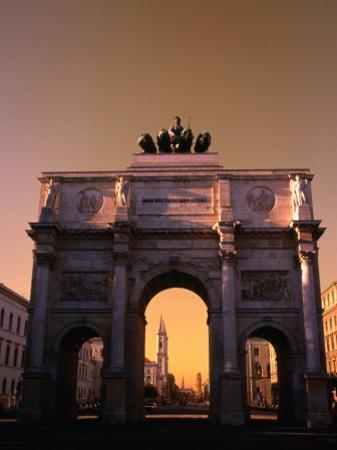 The Victory Gate Siegestor Built (1843-52)On Ludwigstrasse, Munich, Bavaria, Germany