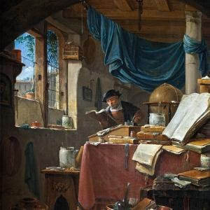 A Scholar in His Study by Thomas Wyck