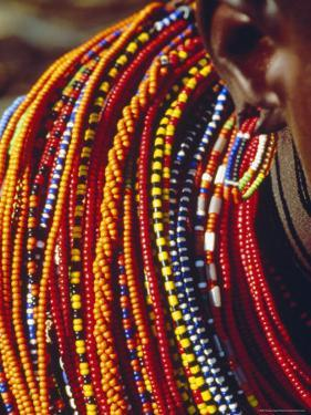 Kenya, Samburu Woman Wearing Decorative Beads by Thomasin Magor
