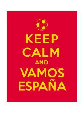 Keep Calm and Vamos Espana by Thomaspajot