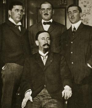 Francisco Madero and Three of His Sons, Gustavo, Gabriel and Evaristo, at the Astor Hotel by Thompson