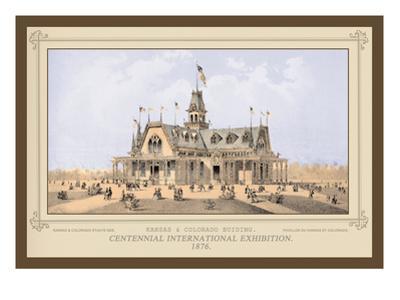 Kansas and Colorado Building, Centennial International Exhibition, 1876