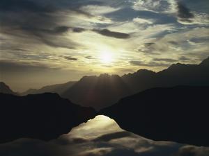 France, Lac Noir L'Alpe D'Huez, Evening Sun by Thonig