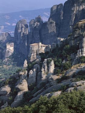 Griechenland, Thessalien, Meteora-Klv?Ster, Kloster Roussanou, Aghios Nikolaos , Glaube, Religion by Thonig