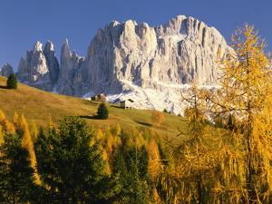 Italy, South Tyrol, Dolomites, 'Rosengarten', 'Vajolet-T?Me', Autumn by Thonig