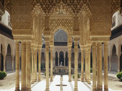 Spain, Andalusia, Granada, Alhambra, Lion's Court