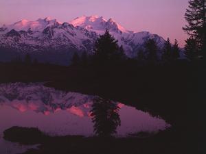 Switzerland, Pennine Alps, Dom De Mischabel, Evening Mood by Thonig