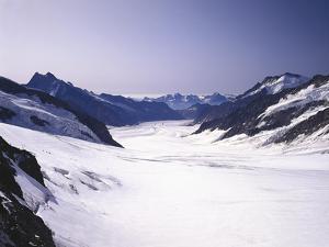 Switzerland, Valais, Mountain 'Jungfraujoch', Great Aletsch Glacier by Thonig