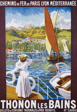 Thonon Les Bains Poster by Robert Boullier