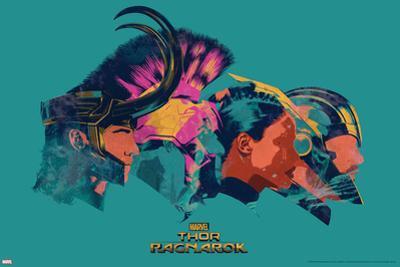 Thor: Ragnarok - Thor, Hulk, Valkyrie, Loki