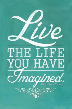 Thoreau Live The Life You Have Imagined Quote