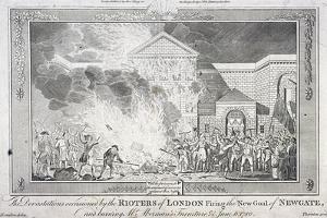 Gordon Riots, Newgate Prison, London, 1780 by Thornton