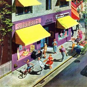 """Bicycle Tricks"", June 18, 1955 by Thornton Utz"