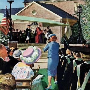 """College Graduation,"" June 4, 1960 by Thornton Utz"