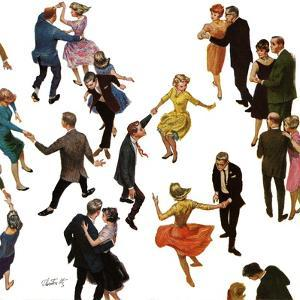 """""""Different Dancing Styles,"""" November 4, 1961 by Thornton Utz"""