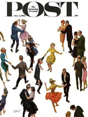 """""""Different Dancing Styles,"""" Saturday Evening Post Cover, November 4, 1961 by Thornton Utz"""