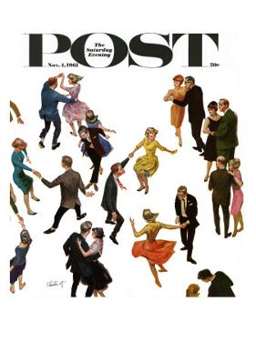 """Different Dancing Styles,"" Saturday Evening Post Cover, November 4, 1961 by Thornton Utz"