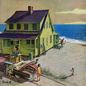 """""""Fathers Off Fishing,"""" June 18, 1960 by Thornton Utz"""