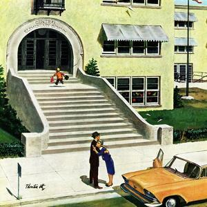 """""""First day of school"""", September 6, 1958 by Thornton Utz"""