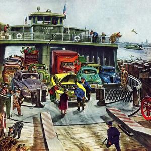 """Hudson Ferry"", February 4, 1950 by Thornton Utz"