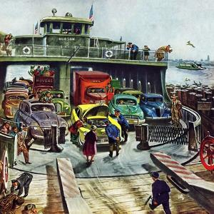 """Hudson Ferry"", February 4, 1950 by Thornton Utz"
