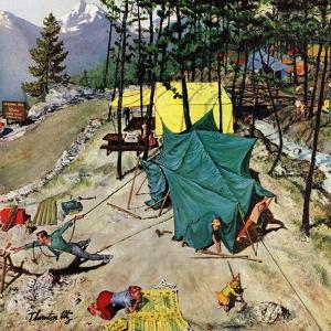 """""""Making Camp"""", July 19, 1958 by Thornton Utz"""