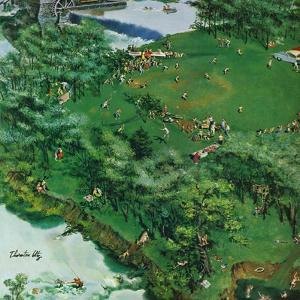 """""""Picnicking on the Fourth"""", July 4, 1959 by Thornton Utz"""