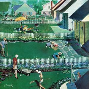"""Spring Yardwork"", May 18, 1957 by Thornton Utz"