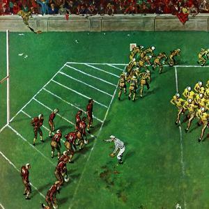 """Third Down, Goal to Go,"" October 15, 1949 by Thornton Utz"