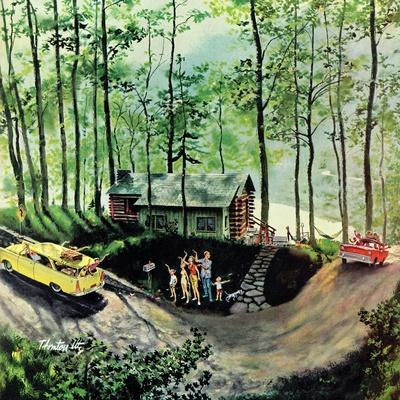 """""""Visitors to Cabin in the Woods"""", August 23, 1958"""