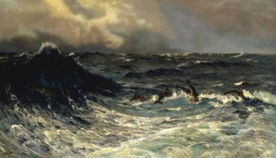 Dolphins in a Rough Sea, 1894