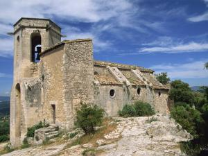 13th Century Church in the Village of Oppede Le Vieux, in the Luberon, Provence, France, Europe by Thouvenin Guy