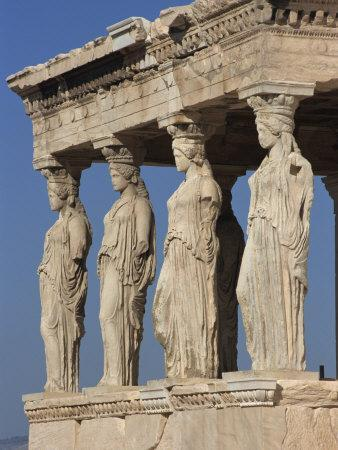 Caryatid Portico, Erechthion, Acropolis, UNESCO World Heritage Site, Athens, Greece, Europe