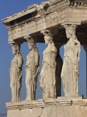 Caryatid Portico, Erechthion, Acropolis, UNESCO World Heritage Site, Athens, Greece, Europe by Thouvenin Guy