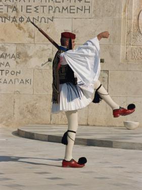 Evzon, Parliament, Syndagma, Athens, Greece, Europe by Thouvenin Guy