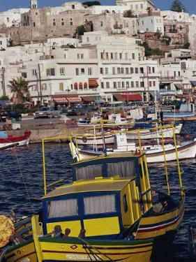 Fishing Boats in the Harbour, Naxos, Cyclades Islands, Greek Islands, Greece by Thouvenin Guy