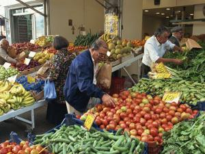 Fruit and Vegetable Market, Piraeus, Athens, Greece, Europe by Thouvenin Guy