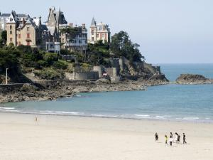 Plage De L'Ecluse and Typical Villas, Dinard, Brittany, France, Europe by Thouvenin Guy
