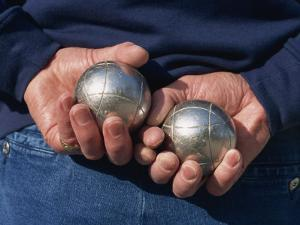Playing Petanque, Roussillon, France, Europe by Thouvenin Guy