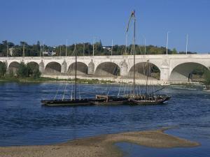 River Loire and Wilson Bridge, Tours, Centre, France, Europe by Thouvenin Guy