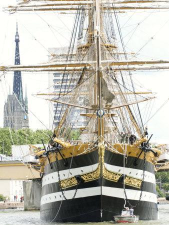 Three Masted Boat, Amerigo Vespucci from Italy During Armada 2008, Rouen, Normandy, France