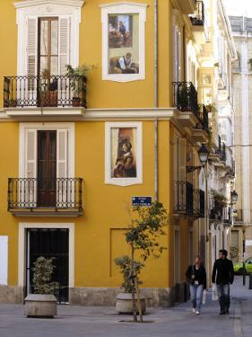 Trompe L'Oeil Paintings on Facades, St. Nicolas Square, Valencia, Spain, Europe by Thouvenin Guy