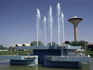 Water Fountain and Tower, Baghdad, Iraq, Middle East by Thouvenin Guy