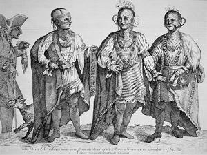 Three American Cherokee Chiefs, 1762