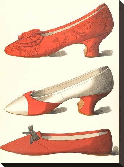 Three Dressy Shoes-Found Image Press-Stretched Canvas