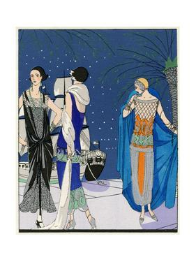 Three Evening Outfits by Drecoll, Premet and Paul Poiret