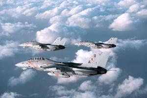 Three F-14 Tomcats Fighters Enforcing the No-Fly-Zone over Southern Iraq, 1998